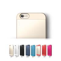 韩国ELAGO苹果5S保护套iphone5S手机壳女款SE金属男全包硬壳个性 5S 磨砂红加金