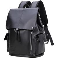 双肩包男时尚潮流防水电脑包男士休闲高中学生书包牛津布旅行背包