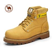 骆驼牌男鞋 冬季真皮户外潮流高帮鞋工装鞋休闲马丁靴男保暖靴子