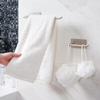 创意304不锈钢纸巾架厨房壁挂毛巾架 卫生间免钉挂架置物架卷纸架