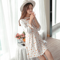 甜美圆点哺乳衣外出喂奶上衣孕妇装春夏装连衣裙2018新款韩版