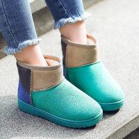2018冬季加绒保暖短靴女童雪地靴新款防滑软底儿童棉靴中大童童靴