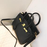 秋冬新款时尚潮女包小包包斜跨迷你包单肩包手提包凯莉铂金包 黑色小号20寸
