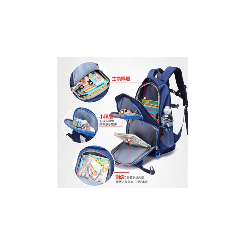 巴布豆儿童书包1-34-6年级潮舒适大容量双肩包男女孩小学生书包 补习袋套餐 补习袋随机发货 指定请联系客服