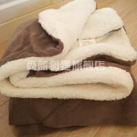 毛毯子加厚单人冬季被子学生宿舍冬天加绒保暖铺床1.2m双层床单用