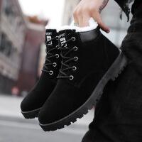 2019新款雪地靴男冬季高帮保暖棉鞋青年百搭棉靴防水防滑男士短靴