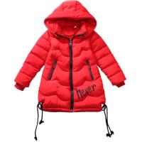 女童棉衣2018新款韩版冬季中长款棉袄儿童加厚女孩洋气冬装潮