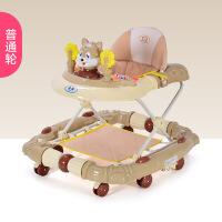 ?婴儿学步车防侧翻多功能可折叠6-18个月男女宝宝手推可坐防o型腿