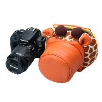 可爱猪头包 佳能单反相机包震700D 760D 750D 80D 宾得内胆包套