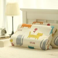 纯棉儿童卡通乳胶枕套泰国60X40全棉橡胶专用记忆枕头套50X30
