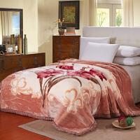 ???毛毯加厚双层单人双人珊瑚绒毯子秋冬季婚庆盖毯被子 双层加厚200x230cm 约9斤