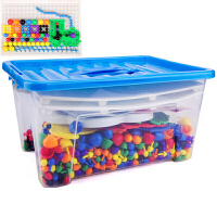 20180524063649568蘑菇钉组合插板积木 智力开发拼插拼图儿童玩具3-7岁