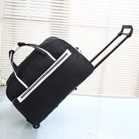 旅行拉杆包手提包袋男女拉杆行李箱包拉杆登机包大容量防水 黑色 拉杆68 大
