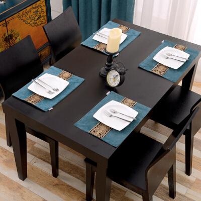 欧式家用隔热餐桌垫西餐垫餐具牛排垫子家用长方形餐具垫 棉麻材质