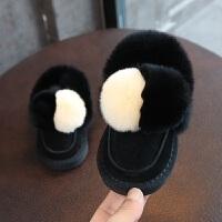 女儿童雪地靴2018冬款韩版毛毛球公主短靴宝宝加厚冬靴子