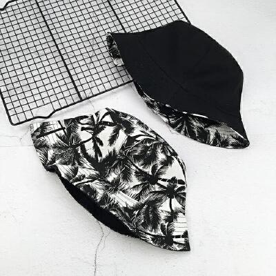 纯色两面戴渔夫帽 欧美街头双面戴盆帽 黑白色潮百搭时尚男女帽子 树叶 双面 M(56-58cm) 发货周期:一般在付款后2-90天左右发货,具体发货时间请以与客服协商的时间为准