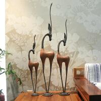 羚羊客厅摆件现代简约创意家居装饰品艺术品新房玄关落地摆设