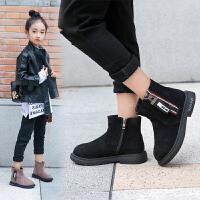 儿童马丁短靴加绒女童靴子2019秋冬新款中大童皮鞋英伦风雪地棉靴