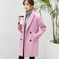 2018毛呢外套女秋冬新款韩版宽松优雅中长款学生呢子大衣