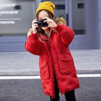 2018新款儿童羽绒服女童中长款中大童冬韩版洋气品牌