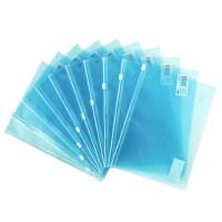得力5589系列拉链袋文件袋透明PP文具袋拉边袋公文袋资料袋5个