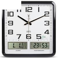 电子挂钟客厅卧室钟表创意静音个性时尚日历时钟大号石英钟