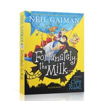 【全店300减100】英文原版 幸好,牛奶还… Fortunately, the Milk . . . 尼尔・盖曼插画版