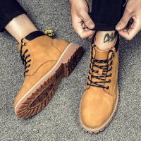 马丁靴男秋季男靴子潮流休闲男鞋户外沙漠靴高帮军靴英伦工装鞋男