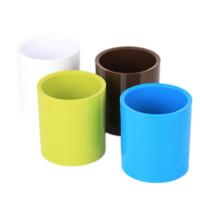 得力彩色笔筒 9155商务笔筒 简约塑料圆柱笔筒 颜色随机