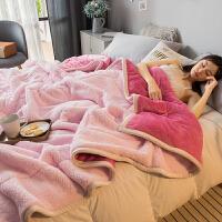 珊瑚绒毯子冬季加厚保暖羊羔绒毛毯被子床单人宿舍学生法兰绒盖毯