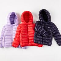 【3件3折到手价:119】笛莎女童轻薄儿童羽绒服2018冬新款中大童羽绒外套纯色小女孩外套