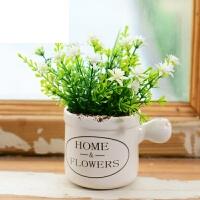 家居客厅室内假花盆景装饰绿植摆设北欧仿真多肉植物盆栽摆件