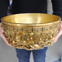 铜聚宝盆摆件纯铜实心铜风水礼品办公室客厅中式摆件家居饰品