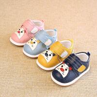 新款春秋儿童学步鞋男童女宝宝小童软底真皮鞋子单鞋1-2岁不掉鞋