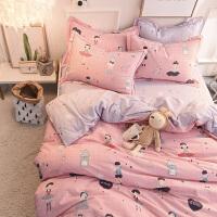 磨毛三四件套1.8m床上用品纯棉被套床单冬季加厚保暖床笠双人