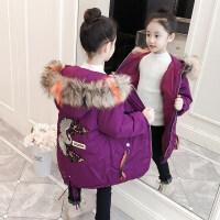 女童棉衣2018新款中长款加厚儿童棉袄女孩洋气外套中大童冬装