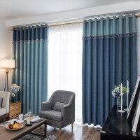 窗帘成品简约现代遮光卧室客厅平面落地窗拼接纱帘布帘大气布