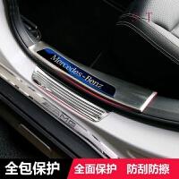 奔驰GLA200门槛条 CLA级 A180迎宾踏板内饰装饰条 奔驰专用改装 奔驰