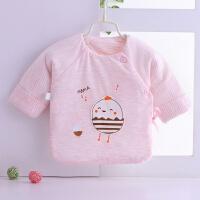 新生儿保暖加厚棉衣服秋冬季初生婴儿和尚服半背衣0-3月上衣 粉红色 蛋壳鸡(粉) 59cm