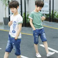 男童夏装新款套装韩版夏季童装帅气中大童休闲短袖两件套潮衣