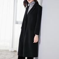 YHMW毛呢外套女中长款2018冬装新款修身加厚保暖外