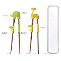 儿童筷子训练筷实木学习筷宝宝练习筷家用餐具套装