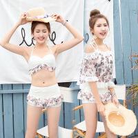 韩版12岁13青年15大童16少女孩14高初中学生分体平角裤保守游泳衣