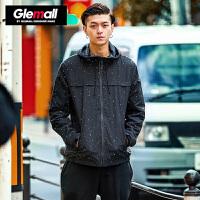 森马潮牌GLEMALL 外套男 夹克运动泼墨青少年休闲百搭短款