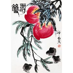 著名画家   娄师白《双寿》