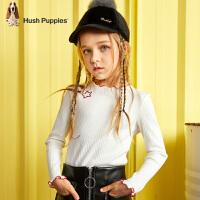 【5折价:134.5元】暇步士童装女童打底衫2020春装新款儿童上衣洋气卷边中大童针织衫