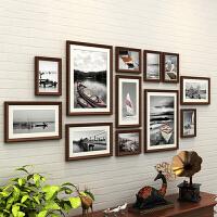 客厅相片框挂墙创意组合连体挂实木照片墙装饰 欧式相框墙相片墙
