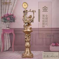 欧式落地钟客厅立式钟表创意大座钟摆件复古奢华家用摆钟现代立钟 6英寸