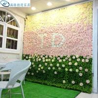 仿真植物绿植墙仿真植物花艺玫瑰花婚礼背景墙装饰挂壁垂直绿化草坪办公室花瓶套餐 玫瑰花墙C款 1平米价格
