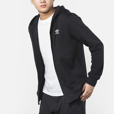 Adidas阿迪达斯 男装 三叶草运动休闲连帽夹克外套 DN6016 三叶草运动休闲连帽夹克外套